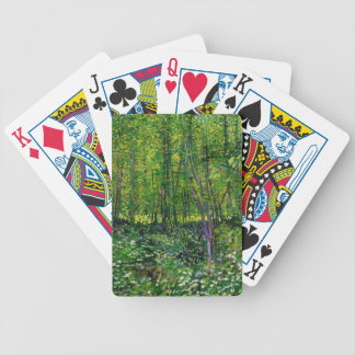 Vincent Van Gogh Trees And Undergrowth Bicycle Playing Cards