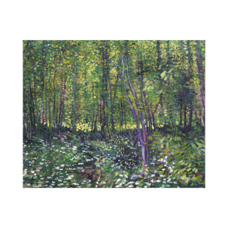 Vincent van Gogh Trees and Undergrowth Canvas Print
