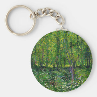 Vincent Van Gogh Trees And Undergrowth Keychain