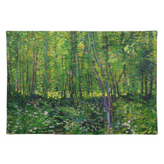 Vincent Van Gogh Trees And Undergrowth Placemat