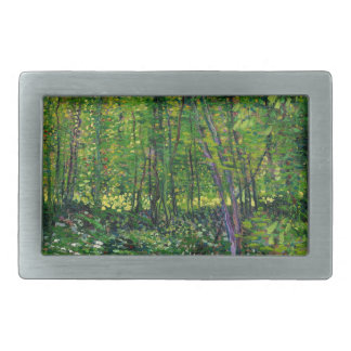 Vincent Van Gogh Trees And Undergrowth Rectangular Belt Buckle