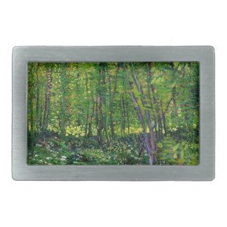 Vincent Van Gogh Trees And Undergrowth Rectangular Belt Buckles