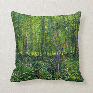 Vincent Van Gogh Trees And Undergrowth Throw Pillow