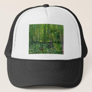 Vincent Van Gogh Trees And Undergrowth Trucker Hat