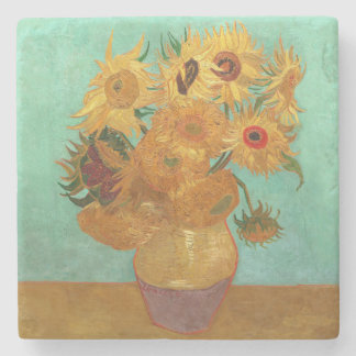 Vincent Van Gogh Twelve Sunflowers In A Vase Stone Coaster