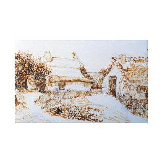 Vincent van Gogh Two Cottages at Saintes-Marie Canvas Print