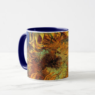Vincent Van Gogh - Two Cut Sunflowers - Fine Art Mug