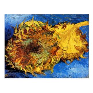 Vincent Van Gogh - Two Cut Sunflowers - Fine Art Postcard