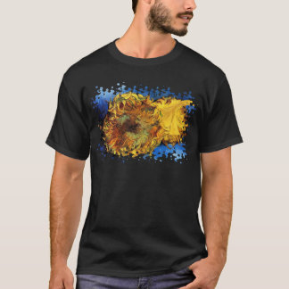 Vincent Van Gogh - Two Cut Sunflowers - Fine Art T-Shirt