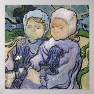 Vincent van Gogh   Two Little Girls, 1890 Poster