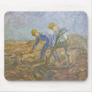 Vincent Van Gogh - Two Peasants Digging Mouse Pad