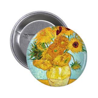 Vincent van Gogh - vase avec 12 tournesols Pin's