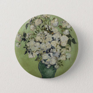 Vincent Van Gogh Vase of Roses Painting Floral Art 2 Inch Round Button
