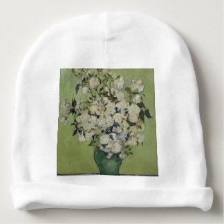 Vincent Van Gogh Vase of Roses Painting Floral Art Baby Beanie