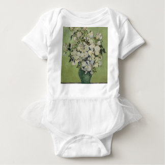 Vincent Van Gogh Vase of Roses Painting Floral Art Baby Bodysuit