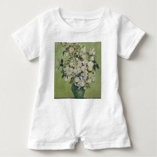 Vincent Van Gogh Vase of Roses Painting Floral Art Baby Romper