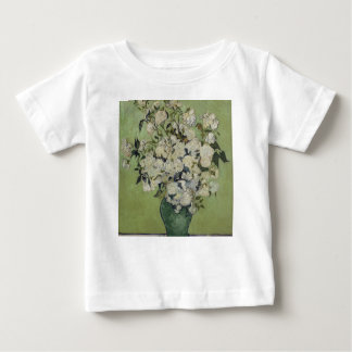 Vincent Van Gogh Vase of Roses Painting Floral Art Baby T-Shirt