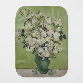 Vincent Van Gogh Vase of Roses Painting Floral Art Burp Cloth
