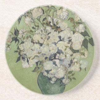 Vincent Van Gogh Vase of Roses Painting Floral Art Coaster