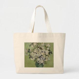 Vincent Van Gogh Vase of Roses Painting Floral Art Large Tote Bag