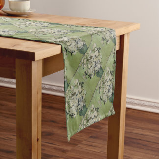 Vincent Van Gogh Vase of Roses Painting Floral Art Short Table Runner