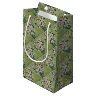 Vincent Van Gogh Vase of Roses Painting Floral Art Small Gift Bag