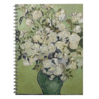 Vincent Van Gogh Vase of Roses Painting Floral Art Spiral Notebook
