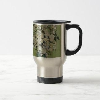 Vincent Van Gogh Vase of Roses Painting Floral Art Travel Mug