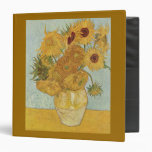 Vincent Van Gogh Vase With 12 Sunflowers 3 Ring Binder