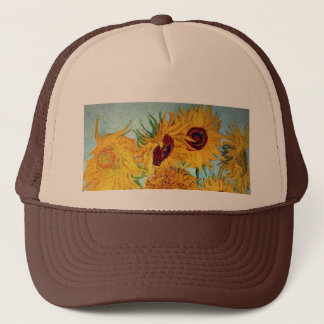 Vincent van Gogh - Vase with 12 Sunflowers Trucker Hat