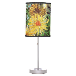 Vincent Van Gogh - Vase With Daisies And Anemones Table Lamp
