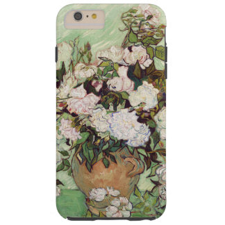 Vincent Van Gogh Vase With Pink Roses Floral Art Tough iPhone 6 Plus Case