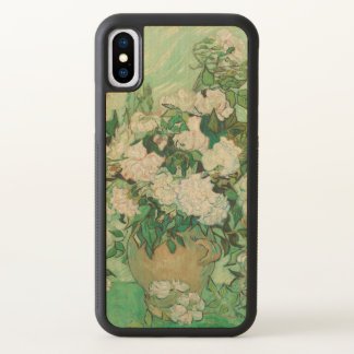 Vincent van Gogh Vase with Pink Roses GalleryHD iPhone X Case