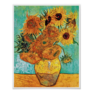 Vincent Van Gogh - Vase With Twelve Sunflowers Poster
