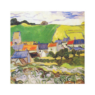 Vincent van Gogh View of Auvers-sur-Oise Canvas Print