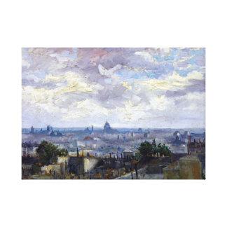 Vincent van Gogh View of Paris Canvas Print