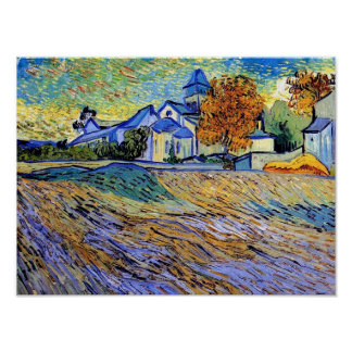 Vincent Van Gogh - View of the Asylum and Chapel Poster