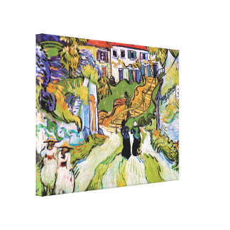 Vincent Van Gogh - Village Street And Steps Canvas Print