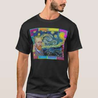 "Vincent Van Gogh Visits his ""Starry Night"" T-Shirt"