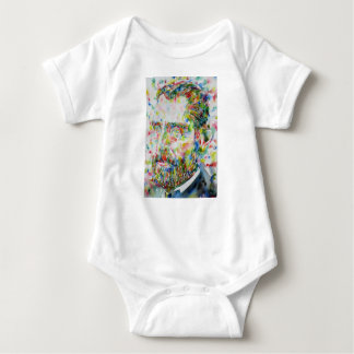 vincent van gogh - watercolor portrait baby bodysuit