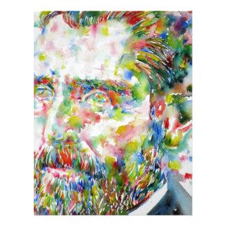vincent van gogh - watercolor portrait letterhead