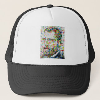 vincent van gogh - watercolor portrait trucker hat