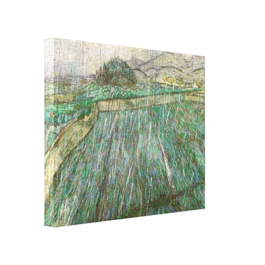 Vincent Van Gogh Wheat Field In Rain Fine Art Canvas Print