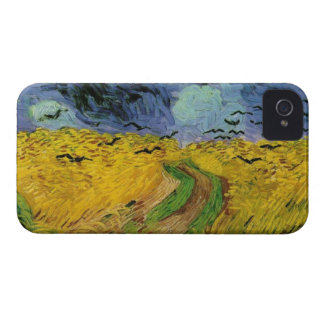 Vincent van Gogh Wheat Field Threatening Skies iPhone 4 Case-Mate Cases