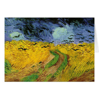 Vincent Van Gogh Wheat Field w Crows Greeting Card