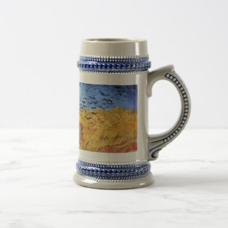 Vincent Van Gogh - Wheat Field with Black Crows Beer Stein