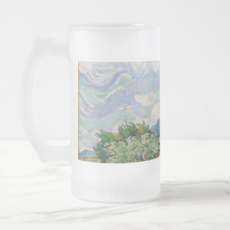 Vincent Van Gogh Wheat Field With Cypresses 16 Oz Frosted Glass Beer Mug