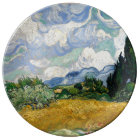 Vincent Van Gogh Wheat Field With Cypresses Plate