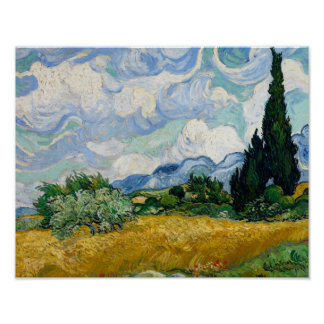 Vincent van Gogh - Wheat Field with Cypresses Poster