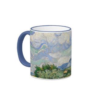 Vincent Van Gogh Wheat Field With Cypresses Ringer Mug